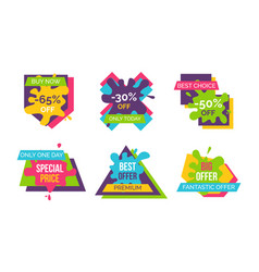 buy now best choice stickers vector image