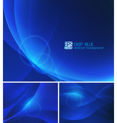 deep blue abstract background vector image
