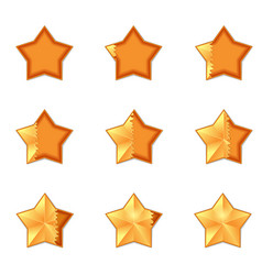 five star rating filling volume vector image