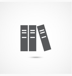 library icon on white vector image