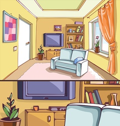Light Living Room vector image