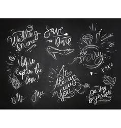 Wedding signs black vector image vector image