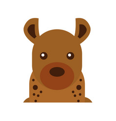 wild hyena isolated icon vector image
