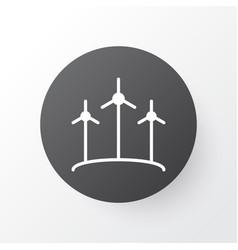 wind power icon symbol premium quality isolated vector image