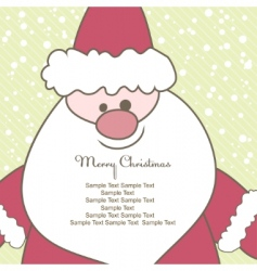 christmas card with santa illustration vector image vector image