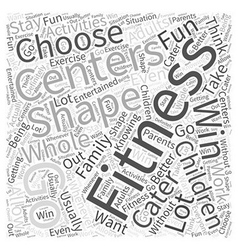 fitness centers Word Cloud Concept vector image vector image