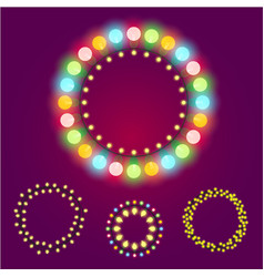holidays christmas new year or casino lights vector image