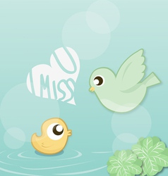 I miss you vector image