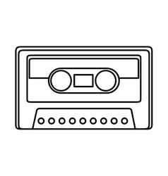 retro cassette isolated icon vector image