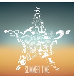 Summer vacation concept vector image vector image