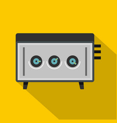 cd player icon flat style vector image