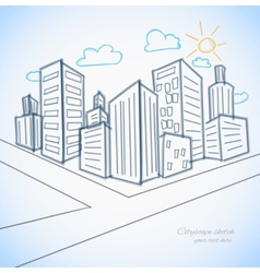 Citsyscapte background vector image