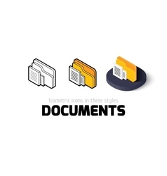 Documents icon in different style vector image