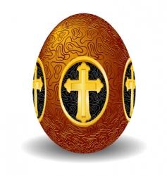 Easter gold egg vector image vector image