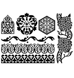 islamic design elements vector image vector image