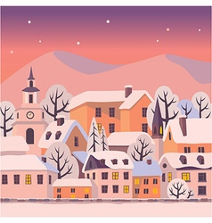 Winter twilight vector image