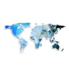 World map with shadow textured design vector image