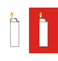 Cigarette lighter icon set vector image