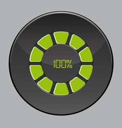 percent button vector image