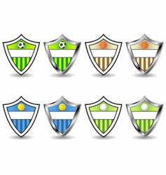 sport shields set vector image vector image