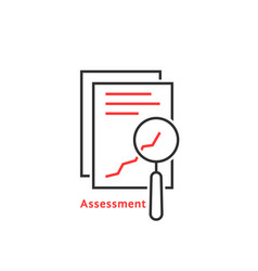 Thin line assessment auditing icon vector