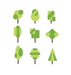 tree icon set vector image