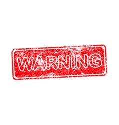 warning red grunge rubber stamp vector image