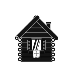 Wooden house icon simple style vector image