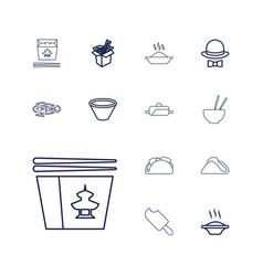 13 cuisine icons vector