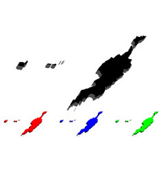 3d map of anguilla vector image
