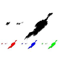 3d map of anguilla vector