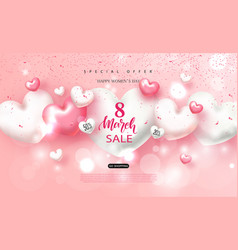 8 march happy womens day sale banner beautiful vector image