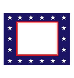 abstract american flag border vector image