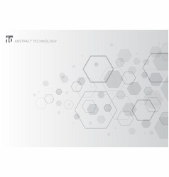 abstract gray hexagon on white background vector image