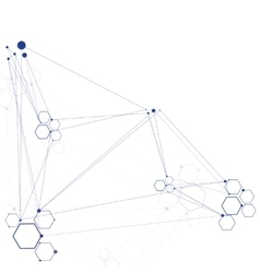 Abstract molecular connection vector image