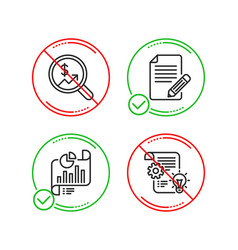 Article report document and currency audit icons vector