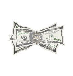Banknotes folded in money vector