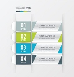 Banner and label design Green blue gray color vector