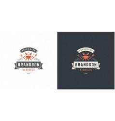 barbecue logo steak house vector image