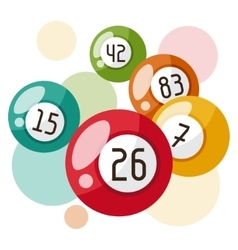 Bingo or lottery game with balls vector