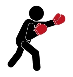 boxing person pictogram icon vector image