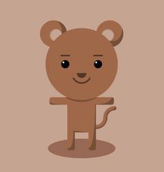brown bear simple for logo design vector image