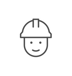 builder line icon vector image