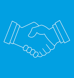 Business handshake icon outline style vector