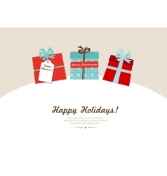 Color Background with Christmas Presents in Retro vector image