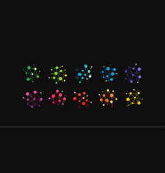 Communication technology icon colored dots vector