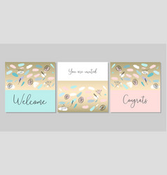 Confetti brushes baby shower vector