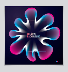 cool gradient shape futuristic design 3d flower vector image