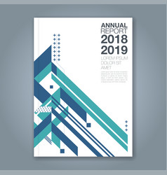 cover annual report 1057 vector image