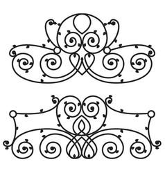 Decorative iron metal fence elegance retro vector
